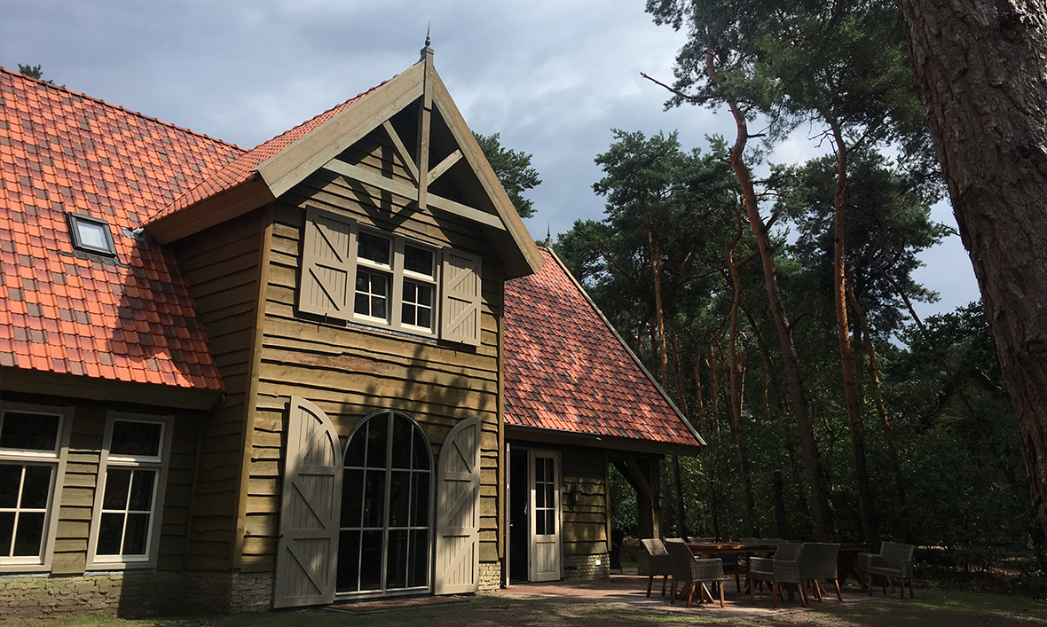 Woodland house accommodation in Efteling theme park