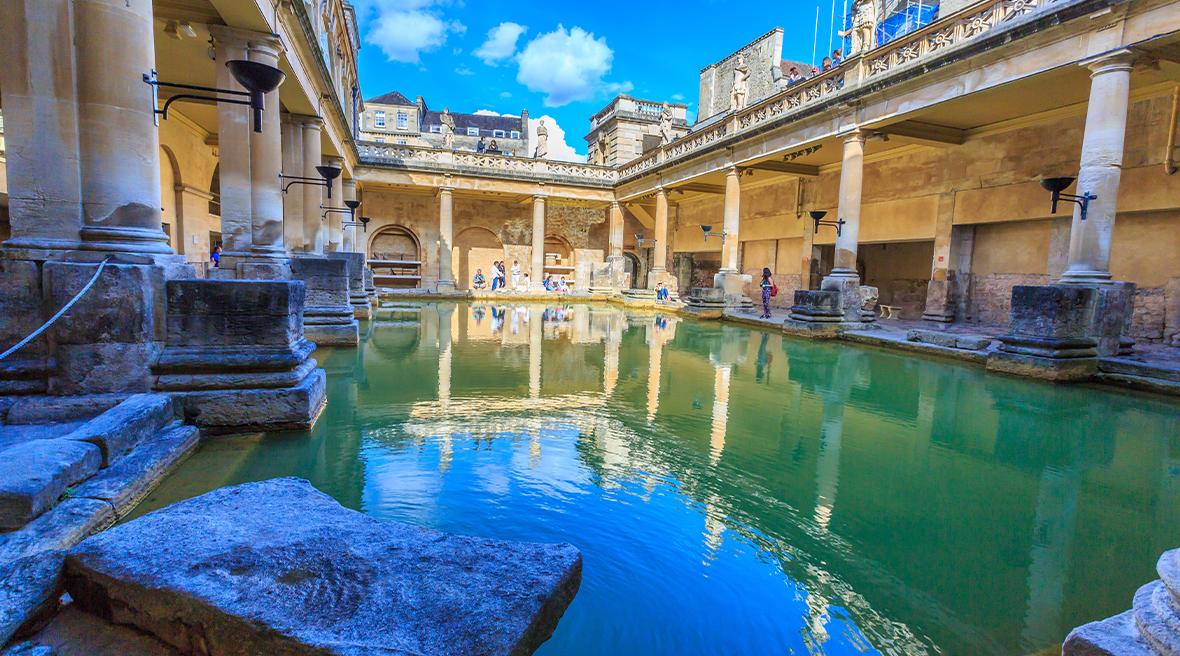 Le grand bain des thermes romains de Bath