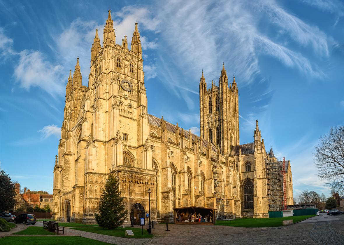 La cathédrale de Canterbury vue de l'extérieur