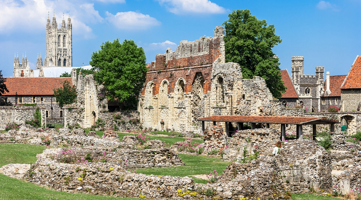 Les ruines de l'abbaye de Saint Augustin à Canterbury