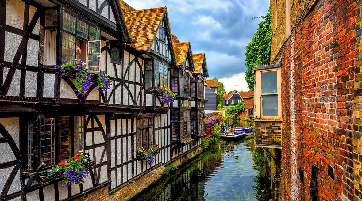La rivière Stour et la vieille ville de Canterbury