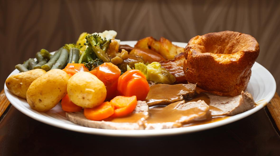 Le « Sunday Roast » un rôti traditionnel accompagné de légumes