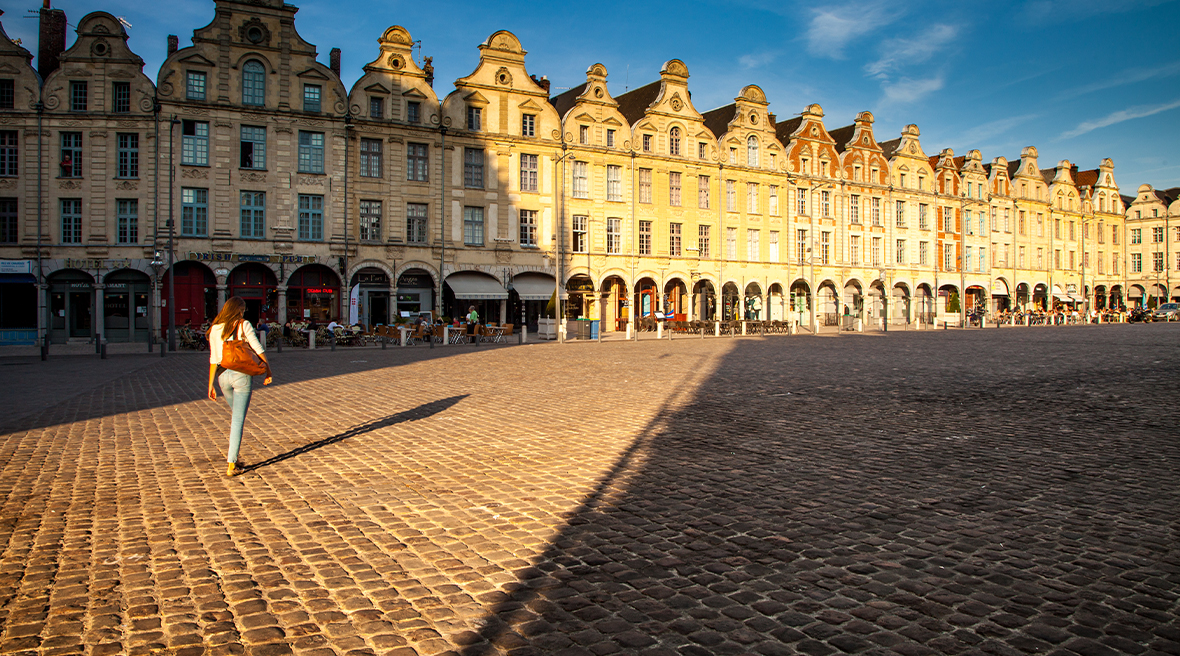 The beautiful squares of Arras – also a key location in WW1 history