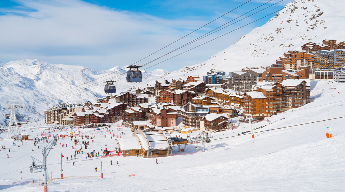 The resort at Val Thorens