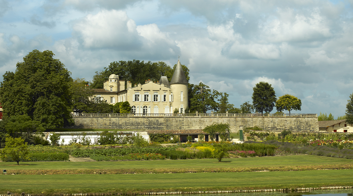 The iconic Château Lafite Rothschild as seen on the labels of some of the world's finest wines.