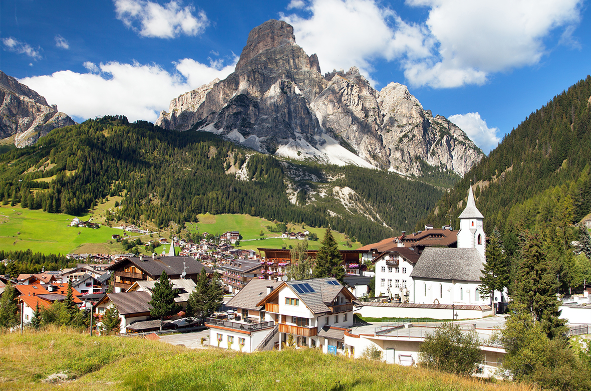 Village of Corvara at the Dolomiten, Alta Badia Italy