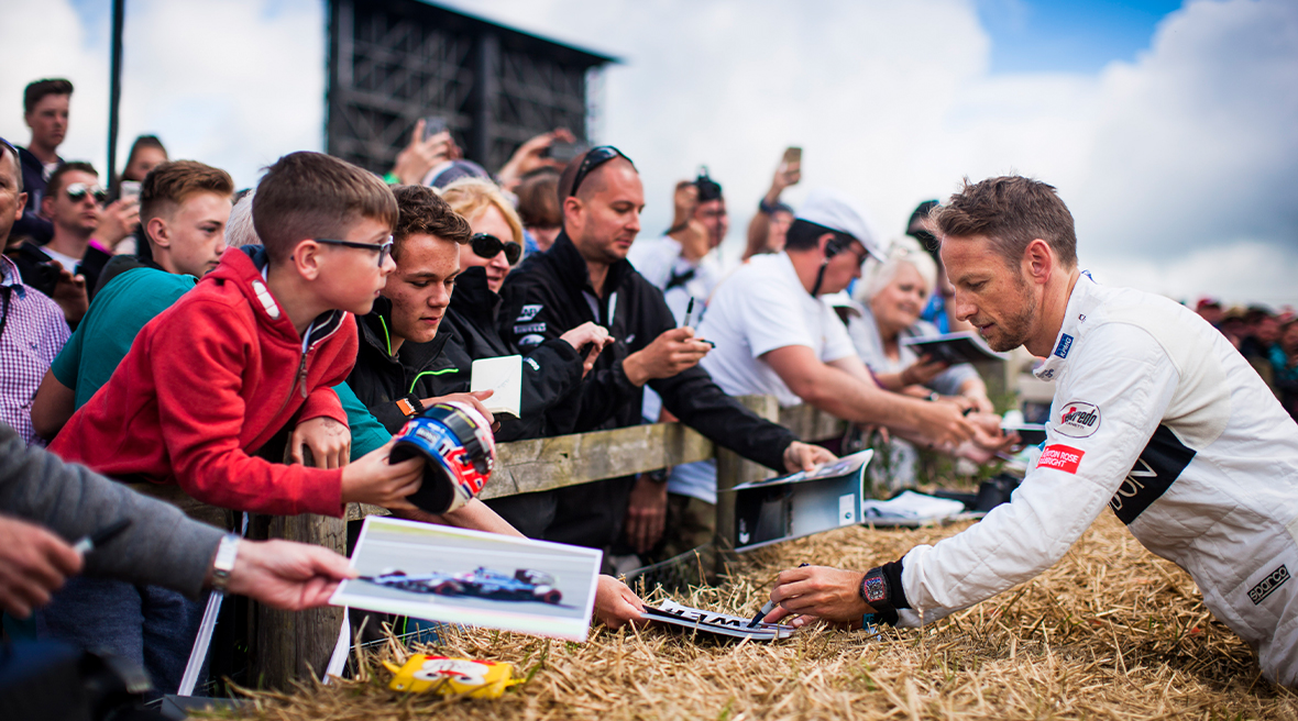 Jenson Button au Festival de vitesse de Goodwood