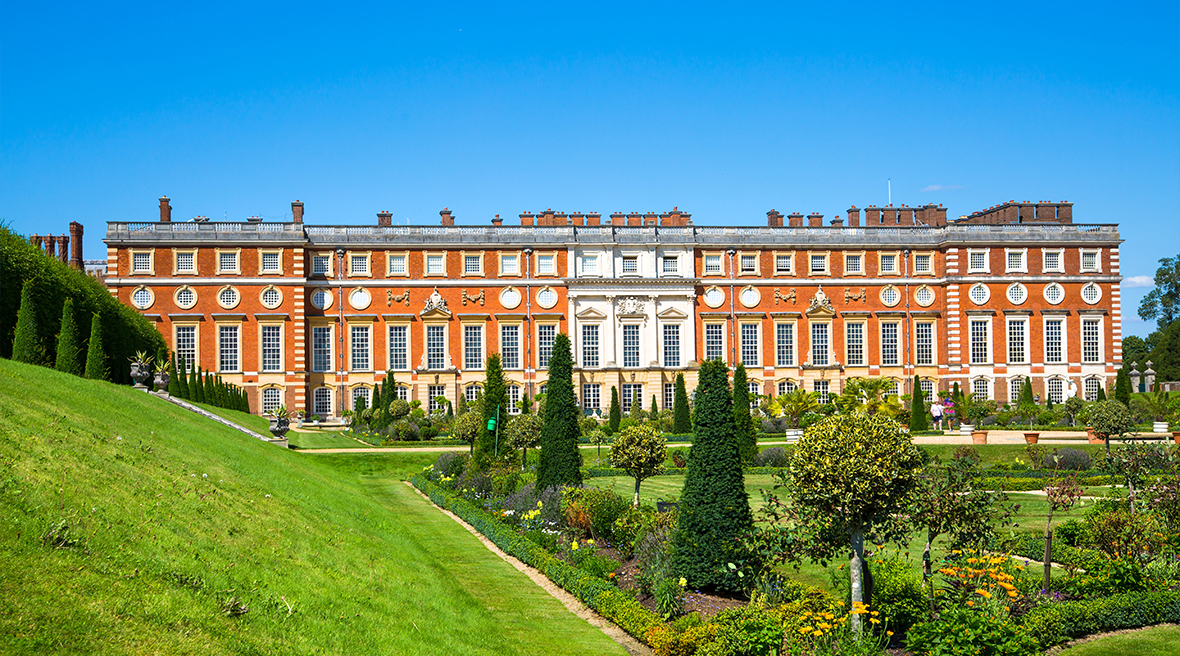 La partie baroque du palais de Hampton Court, construite pour William III