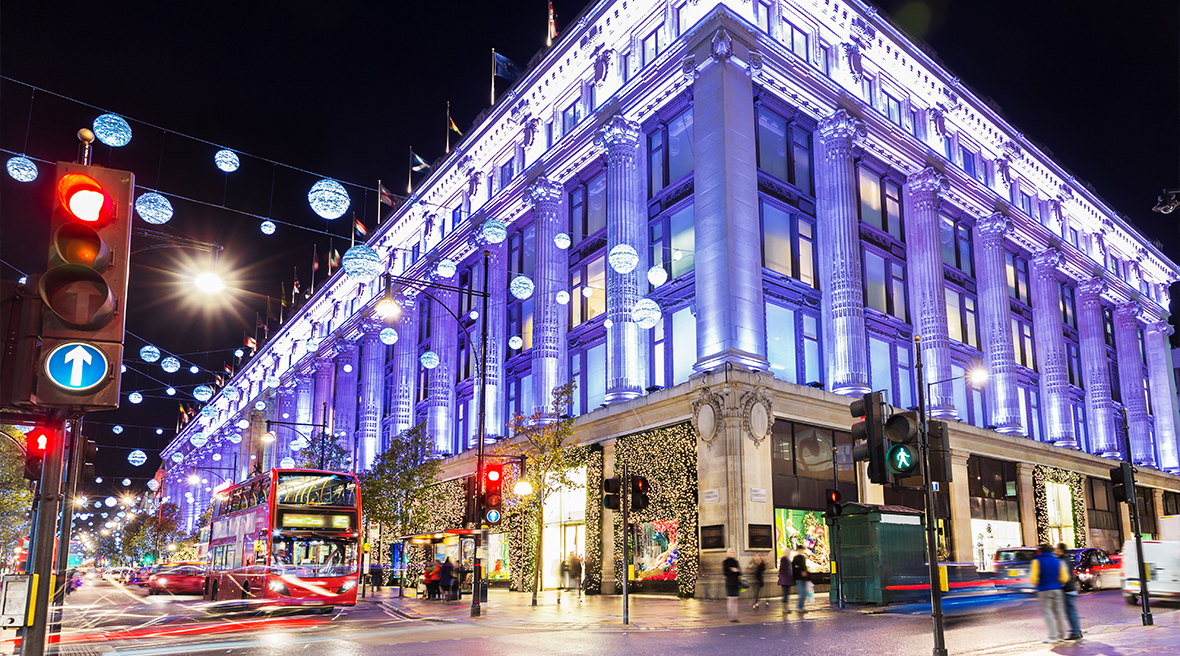 La boutique de Selfridges sur Oxford Street à Londres
