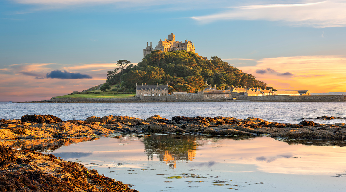 St Michael's Mount en Cornouailles ; un petit air de Normandie