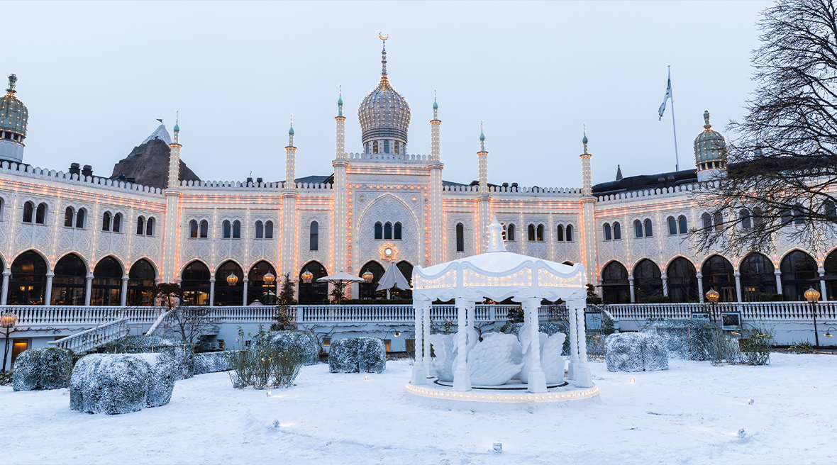 Exterior of Moorish Palace in Tivoli gardens, Copenhagen