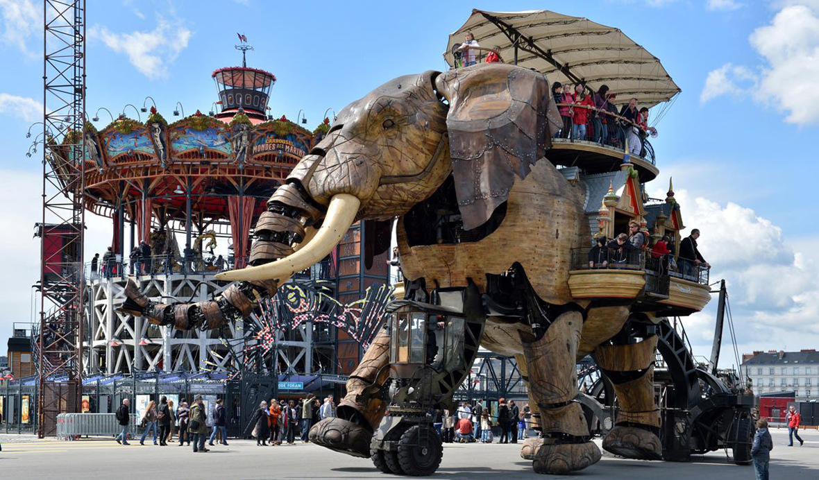 Don't be surprised if you see a robotic elephant in Nantes!