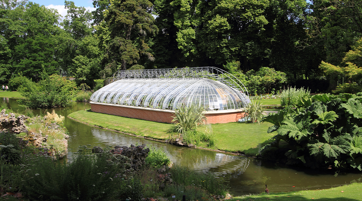 Come to the Jardin des Plantes for beautiful greenhouses and unusual plants
