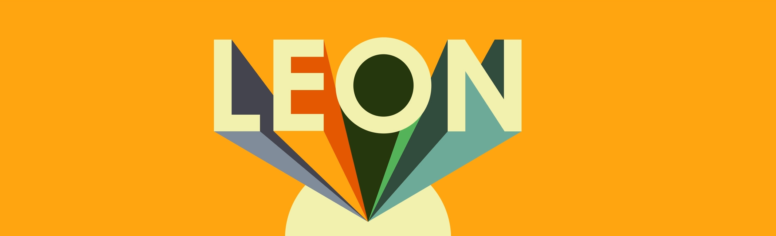 Leon logo and assorted menu items