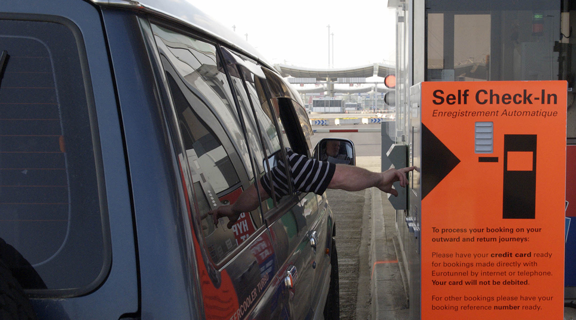 Self Check-In at Eurotunnel Le Shuttle